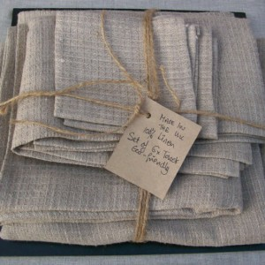Exceptionnel Linen Towels Set Of 6 Natural Linen Fabric