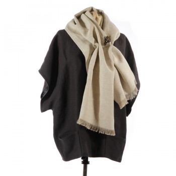 Linen Scarf with Sloppy Joe Jacket