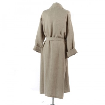 Natural Dressing Gown Reverse