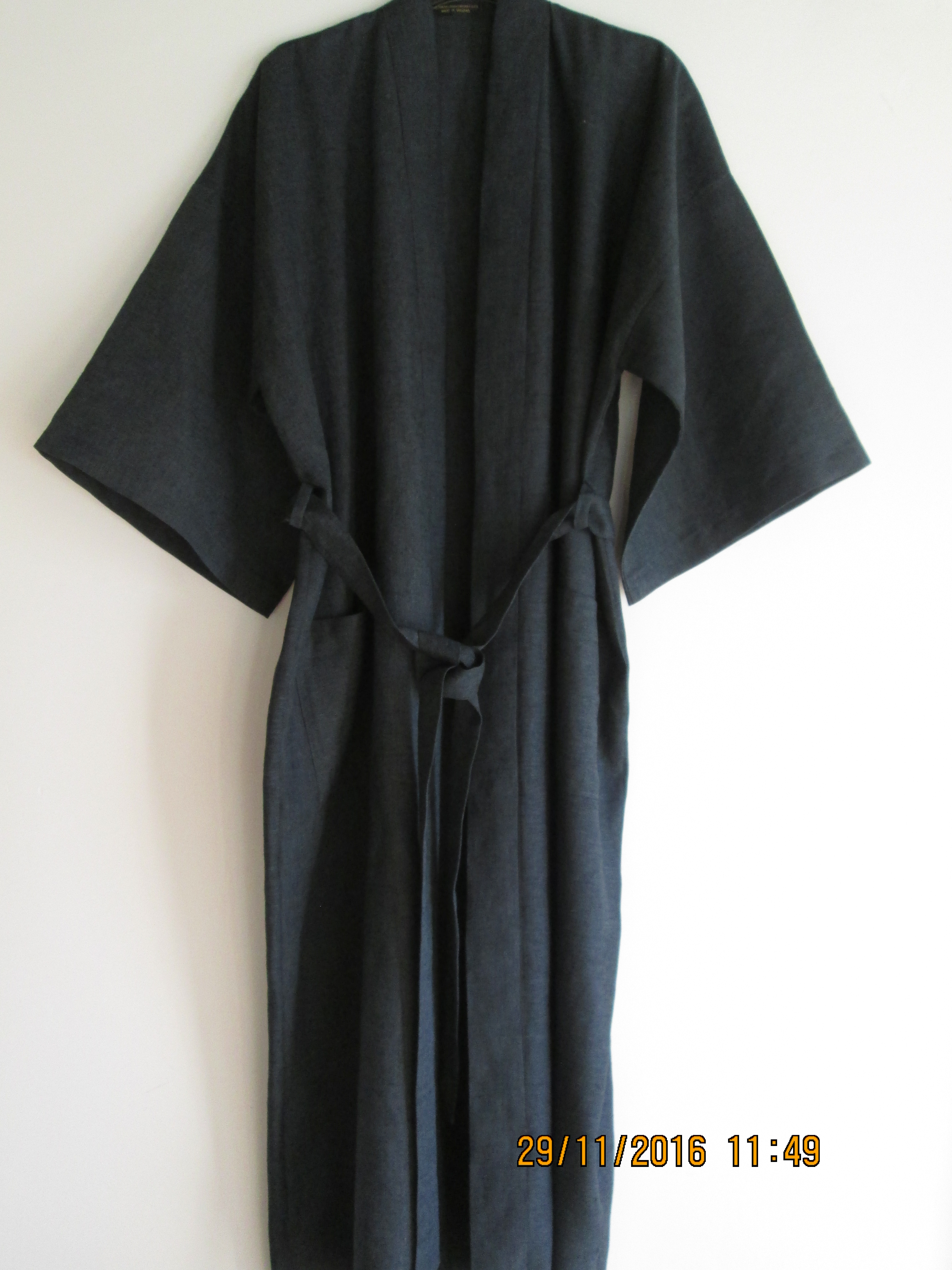 LINEN KIMONO DRESSING GOWN IRISH LINEN MADE IN GREAT BRITAIN ...